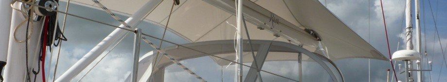 Oyster 56 Tensile Awning